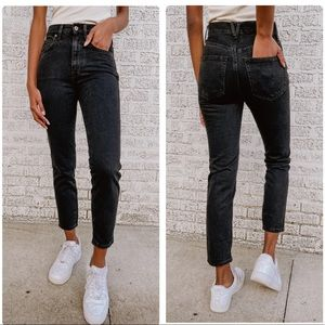 Free People Stovepipe Jean in Black Out